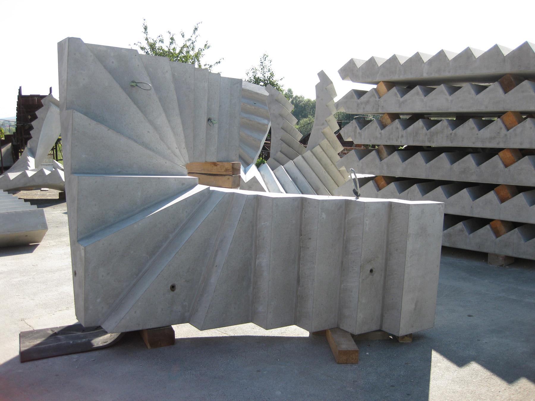 Fertigteile-Treppen-Beton