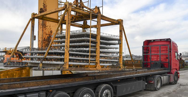 logitstik lieferung betonfertigteil